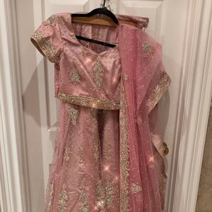 Other - Stunning pink and crystal Bridal Lehenga